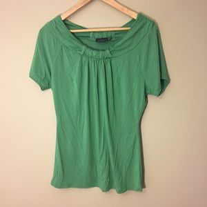 The Limited Green Short Sleeve Top